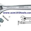 UNIOR ยูเนีย ประแจเลื่อน ชุบขาว ปัดเงา adjustable wrench
