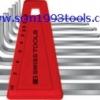 PB Swiss Tool พีบีสวิสทูล รุ่น PB212-H-10 ประแจหกเหลี่ยมหัวบอลแบบสั้น 9 ตัวชุด ball point hex key L-wrenches sets for hexagon socket screws