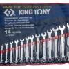KINGTONY คิงโทนี่ 1214SR ประแจแหวนข้างปากตาย 14 ตัวชุด 5/16-1.1/4 นิ้ว Combination Wrench Set
