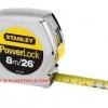 Stanley สแตนเล่ย์ ตลับเมตร รุ่น PowerLock ชุบโครเมี่ยม 8 เมตร (26 ฟุต) No. 33-428 Tape Rule