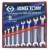 KINGTONY คิงโทนี่ 1108MR ประแจปากตาย 8 ตัวชุด 6-22 มม. European Type Open End Wrench Set
