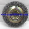 GEM-117 แปรงลวดกลม ลวดเหล็ก 5 นิ้ว x หนา 5/8 นิ้ว Steel Wire Wheel Brush-Crimped Fill Material