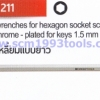 PB Swiss Tool พีบีสวิสทูล รุ่น PB211 ประแจหกเหลี่ยมแบบยาว Hex key L-wrench for hexagon socket screws