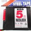 KDS เคดีเอส ตลับเมตร รุ่น NEOLock 5 เมตร (16 ฟุต) กว้าง 1.5 ซม. Steel Tape