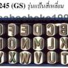 BRP เหล็กตอกตัวหนังสือ A-Z เหล็กตอกตัวอักษร รุ่นแป้นสี่เหลี่ยม no. 245 (GS) Steel Characters Stamper
