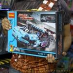 3367 ตัวต่อ King Steerer รถแข่งความเร็วสูง Drag Racer