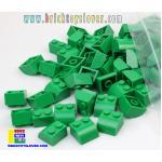 BTF001GN ตัวต่ออิสระสีเขียว 2 ปุ่ม มุมมีโค้ง Fillet น้ำหนัก 100 กรัม