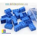 BRT002BL ตัวต่ออิสระสีน้ำเงิน ขนาด 2x3 ปุ่ม น้ำหนัก 100 กรัมในถุงพลาสติกใส