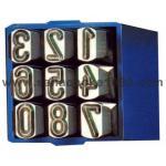 BRP เหล็กตอกตัวเลข 0-9 รุ่นแป้นสี่เหลี่ยม no. 240 (GS) Steel Numbers Stamper