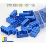 BRT003BL ตัวต่ออิสระสีน้ำเงินขนาด 2x4 ปุ่ม น้ำหนัก 100 กรัมในถุงพลาสติกใส
