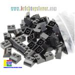 BTF001BK ตัวต่ออิสระสีดำ 2 ปุ่ม มุมมีโค้ง Fillet น้ำหนัก 100 กรัม
