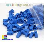 BTS001BL ตัวต่ออิสระสีน้ำเงิน 1 ปุ่ม มีมุมเอียง Slope น้ำหนัก 100 กรัม