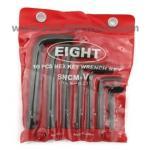 EIGHT ชุดประแจตัวแอล สั้น หัวหกเหลี่ยม 1/64 นิ้ว-3/8 นิ้ว HEX key wrench set