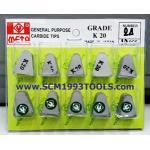 META มีดเล็บ เกรด K20 General Purpose Carbide Tips