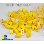 BTS001Y ตัวต่ออิสระสีเหลือง 1 ปุ่ม มีมุมเอียง Slope น้ำหนัก 100 กรัม