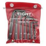 EIGHT ชุดประแจตัวแอล สั้น หัวหกเหลี่ยม 1.5-10 มม. HEX key wrench set