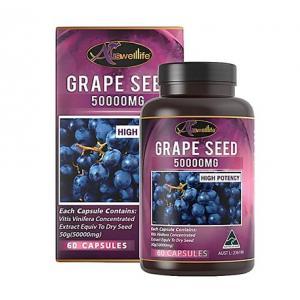 Auswelllife Grape Seed 50000mg สารสกัดเมล็ดองุ่น [จัดส่งฟรี ราคาดีสุด]