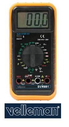 มัลติมิเตอร์ดิจิตอล รุ่น DVM891