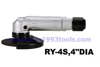 RY-4S เครื่องขัดไฟเบอร์ 4 นิ้ว ลมออกหลัง Angle Grinder