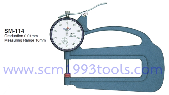 TECLOCK เทคลอค รุ่น SM-114 เกจวัดหนาบาง Dial Thickness Gauge