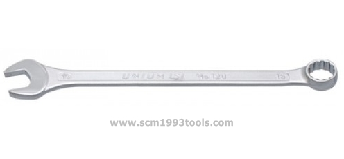 UNIOR ยูเนีย ประแจแหวนข้าง ปากตาย ตัวยาว ชุบขาวปัดเงา wrench