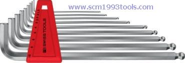 PB Swiss Tool พีบีสวิสทูล รุ่น PB212LH-8 ประแจหกเหลี่ยมหัวบอลแบบยาว 8 ตัวชุด Ball point hex key L-wrench sets for hexagon socket screws