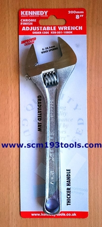 KENNEDY เคนเนดี้ ประแจเลื่อน ชุบโครเมียม adjustable wrench Chrome finish