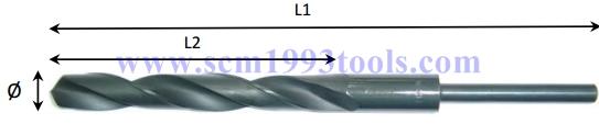 MEXCO ดอกสว่านเจาะเหล็กไฮสปีด ชนิดมิล ก้านลด 1/2 HSS reduced shank drills