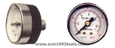 HILIGHT ไฮไลท์ เกจวัดแรงดัน pressure gauge เกลียวด้านหลัง หน้าปัด 1.5 นิ้ว 1 หุน BSPT