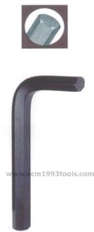 EIGHT ประแจตัวแอล สั้น หัวหกเหลี่ยม สีดำ HEX key Wrench