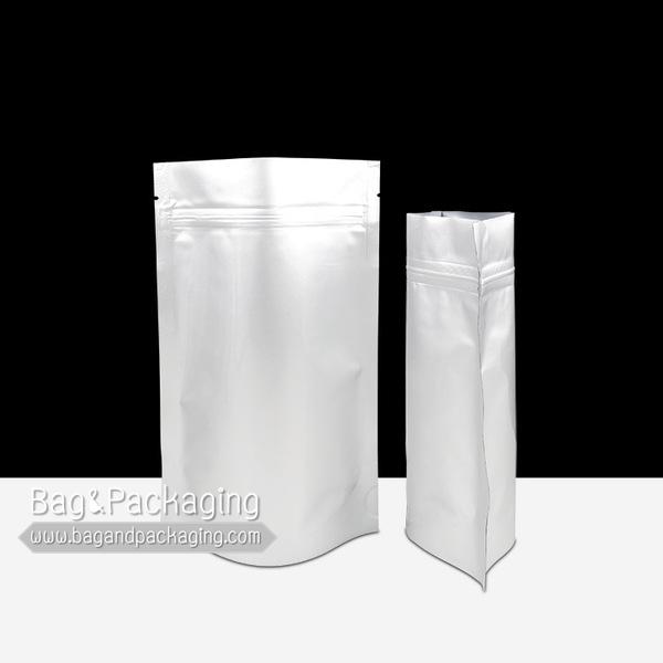 ถุงซิปล็อคอลูมิเนียมฟอยล์ ก้นตั้ง ทึบ 2 ด้าน ขนาด 17 x 24 cm