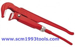 SUPER-EGO ประแจจับแป๊บจับท่อ สองขา 3 นิ้ว งานหนัก Pipe Wrenches 90° type 141