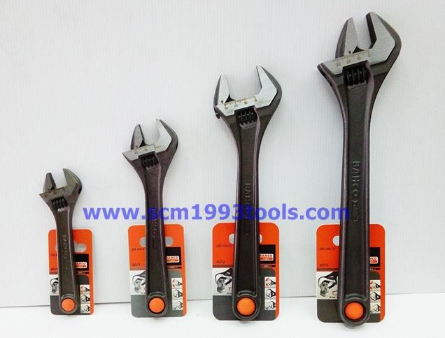 BAHCO บาโก้ ประแจเลื่อน 8 นิ้ว กุญแจเลื่อน คุณภาพดี adjustable wrenches