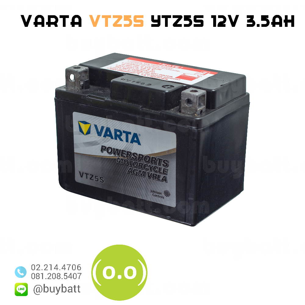 แบตเตอรี่มอเตอร์ไซต์ VARTA VTZ5S YTZ5S 12V 3.5Ah motorcycle battery