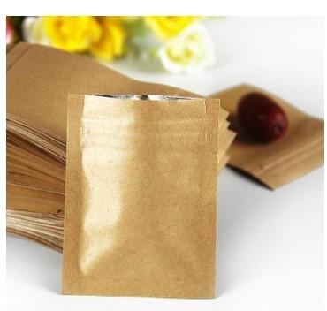 ถุงซิปล็อคก้นแบน กระดาษคราฟท์ ขนาด 7 x 10 cm