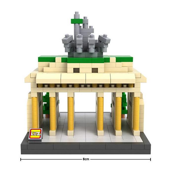 มินิบล็อก LOZ เลโก้จีน 9385 ราคาถูก Brandenburg Gate ความกว้างด้านหน้า
