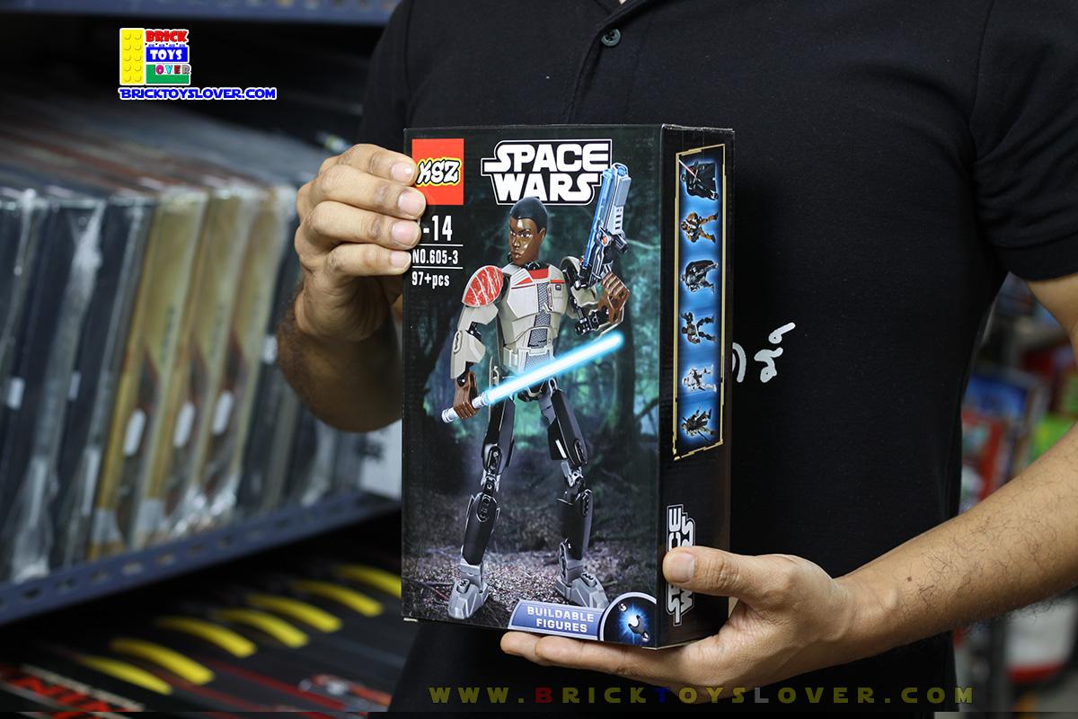 605-3 โมเดลฟิกเกอร์ฟิน ทหารทรูปเปอร์ผู้หลบหนี Star Wars 7 The Force Awakens