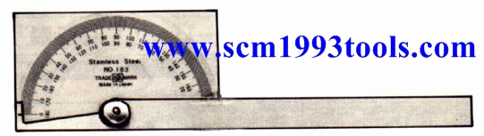 ORION จานวัดองศา รุ่นสี่เหลี่ยม No.183 ญี่ปุ่น Protractor No. 183 Japan