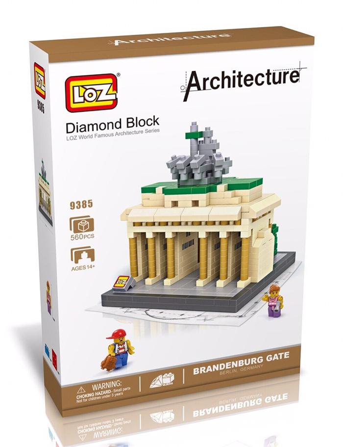 มินิบล็อก LOZ เลโก้จีน 9385 ราคาถูก Brandenburg Gate กล่อง