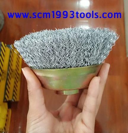 แปรงลวดถ้วย SMC ขนาด 5.5 นิ้ว สำหรับเครื่องขัดไฟเบอร์ Power Wire Brush for Angle Grinder