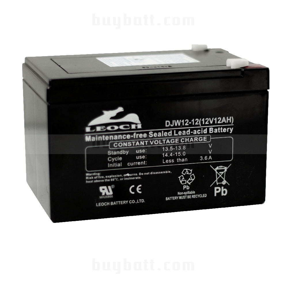 แบตเตอรี่แห้ง 12V 12Ah LEOCH LP12-12 Battery Lead Acid SLA VRLA AGM
