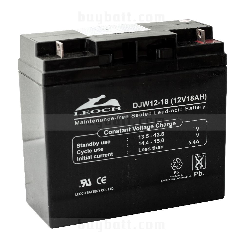 แบตเตอรี่แห้ง 12V 18Ah LEOCH LP12-18 Battery Lead Acid SLA VRLA AGM