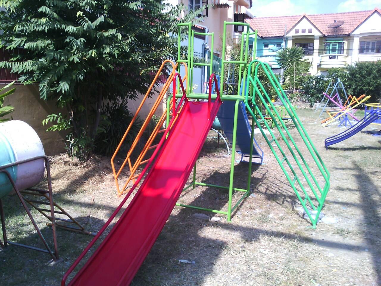 รหัส PG ผลงานติดตั้ง (หมู่บ้านลภาวัล8 จ.นนทบุรี) เครื่องเล่นสนามกลางแจ้งสำหรับเด็ก