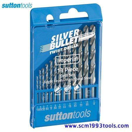 "SUTTON S1 ซัตตัน ดอกสว่านเจาะไม้ เหล็ก พลาสติก ไฮสปีด 1/16""-1/4"" 13 ดอก Drill Bit Set"