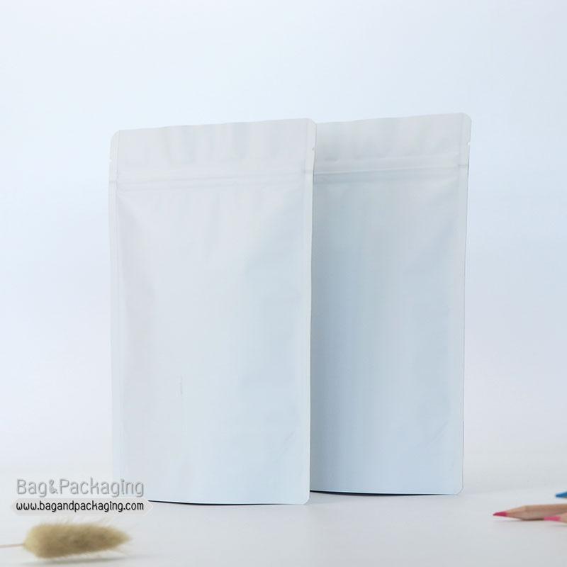 ถุงซิปล็อคก้นตั้ง สีขาวด้าน