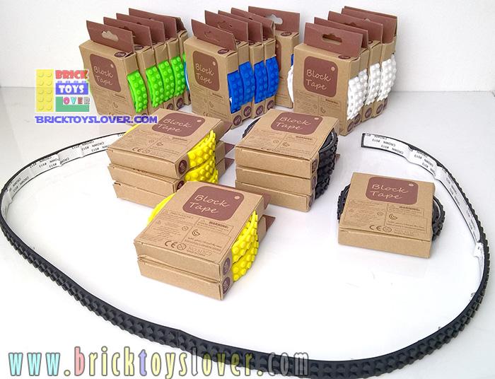 BT513 แผ่น Flexible Block Tape ตัวต่อ 2 แถวแบบยึดหยุ่นพื้นเป็นกาว ความยาว 1 เมตร
