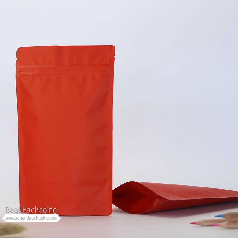 ถุงซิปล็อคก้นตั้ง สีแดงด้าน