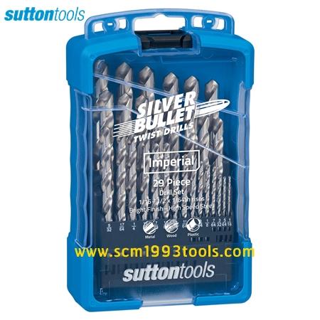 "SUTTON S3 ซัตตัน ดอกสว่านเจาะไม้ เหล็ก พลาสติก ไฮสปีด 1/16""-1/2"" 29 ดอก Drill Bit Set"