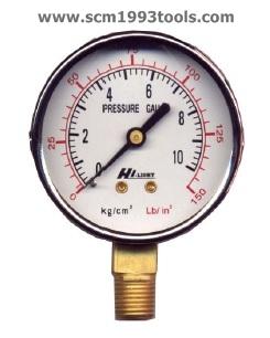 HILIGHT ไฮไลท์ เกจวัดแรงดัน pressure gauge หน้าปัด 3 นิ้ว 3 หุน BSPT