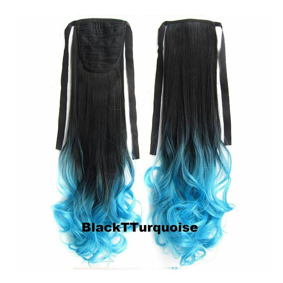 Ombre Curly Ribbon แบบลอน สี 1BTTurquoise